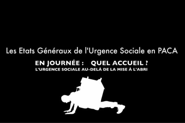 Reportage des Etats Généraux de l'Urgence Sociale EGUS PACA réalisé par OrnyCam, agence de production audiovisuelle sur Avignon